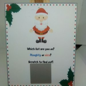 Santa's list scratch card